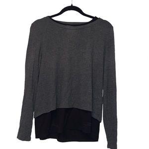 Gray longsleeve with black undershirt